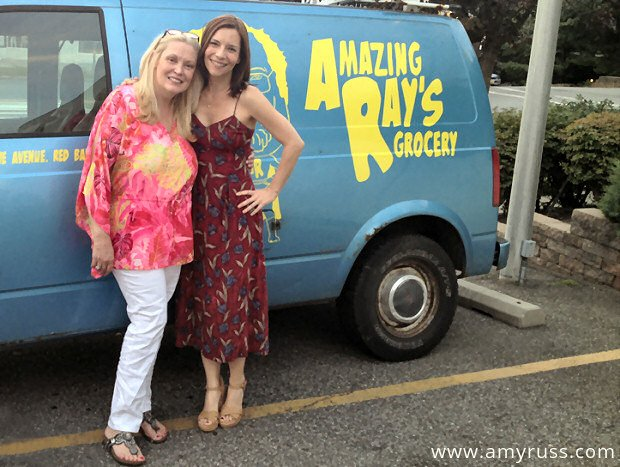Amy Russ with Cathy Moriarty